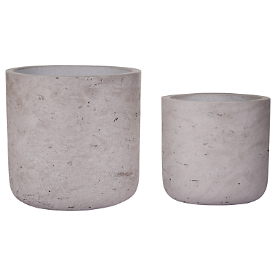 Garden Trading Stratton Cement Pots, Set of 2