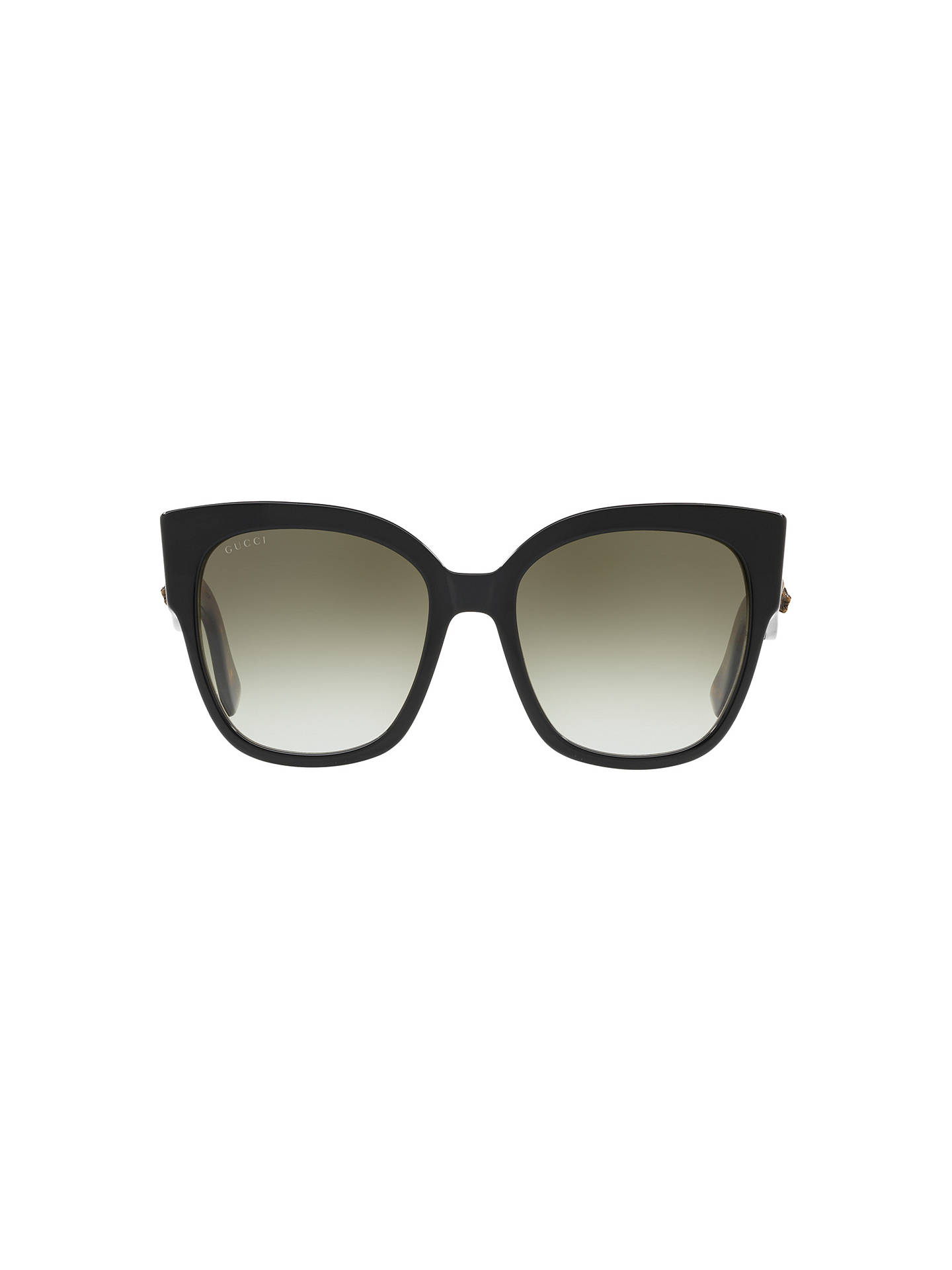 203bb0f0b ... Buy Gucci GG0069S Studded Square Sunglasses, Black/Grey Gradient Online  at johnlewis.com ...