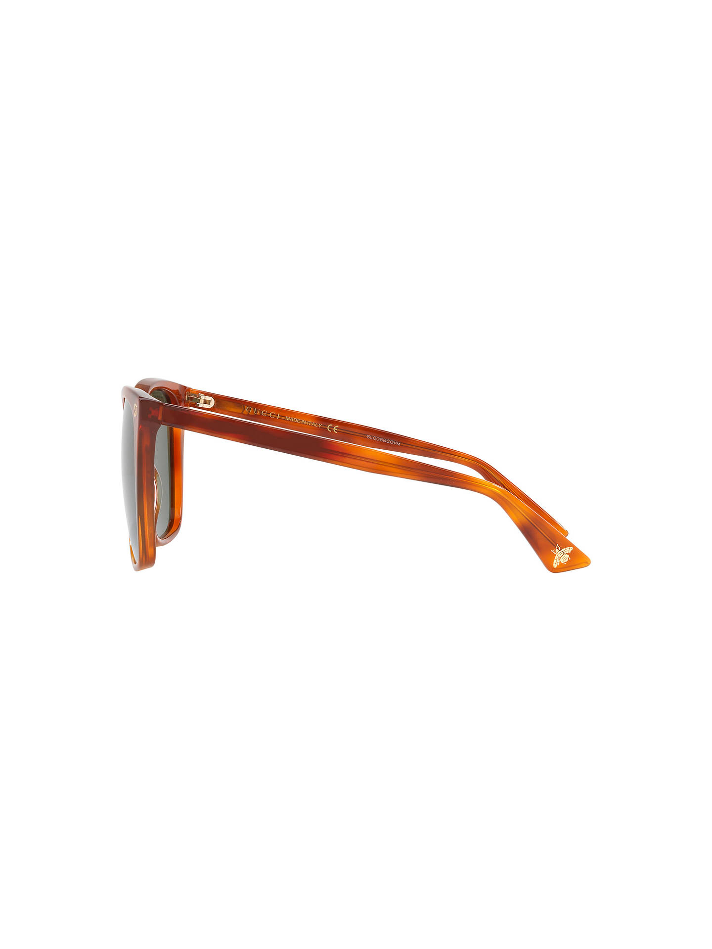 37361329fba Gucci GG0022S Square Sunglasses at John Lewis   Partners