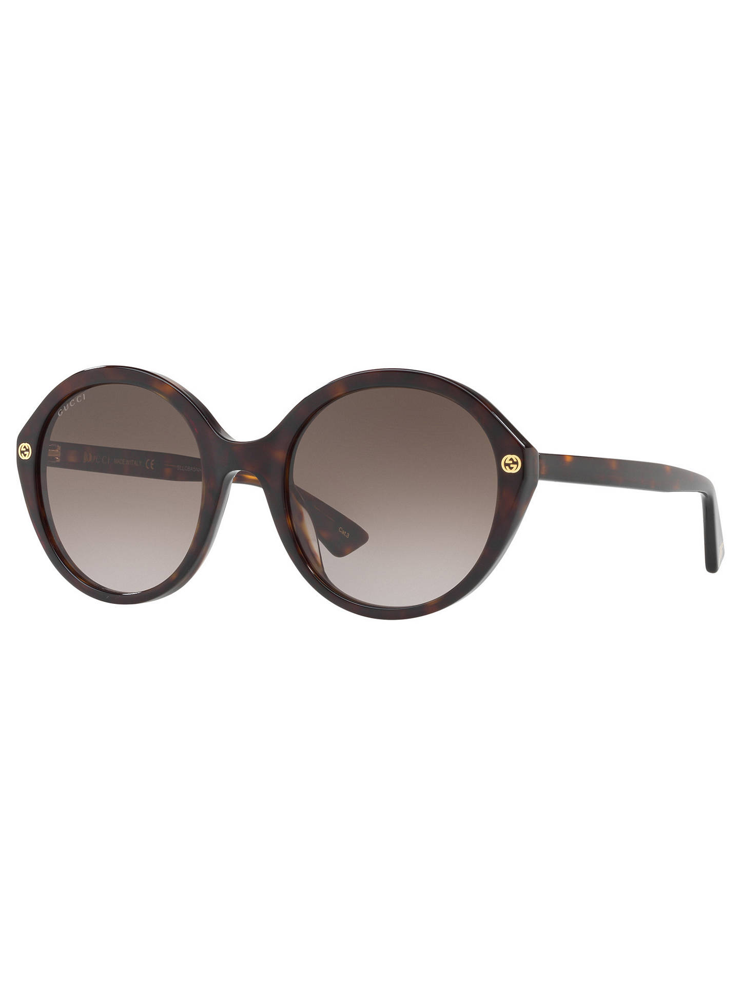 e2100350939d0 Gucci GG0023S Round Sunglasses at John Lewis   Partners