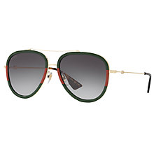 Buy Gucci GG0062S Aviator Sunglasses Online at johnlewis.com