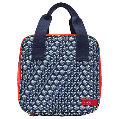 Joules Shell Print Lunch Bag, French Navy