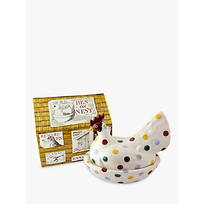 Emma Bridgewater Polka Dot Hen On Nest With Box
