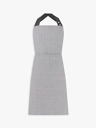 House by John Lewis Woven Cotton Apron, Steel