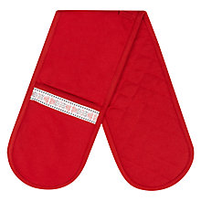 Buy John Lewis Folklore Double Oven Glove, Red Online at johnlewis.com