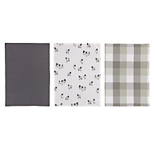 Buy John Lewis Croft Collection Highland Myths Tea Towels, Pack of 3, Neutral/Multi Online at johnlewis.com