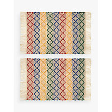 Buy John Lewis Alfresco Stripe Placemats, Set of 2, Multi Online at johnlewis.com