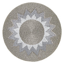 Buy John Lewis Explosion Round Glass Bead Placemat, Silver Online at johnlewis.com