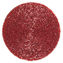 Buy John Lewis Glass Bead Coasters, Red, Set of 4 Online at johnlewis.com