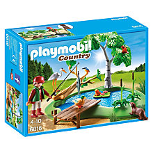 Buy Playmobil Country Fishing Pond Online at johnlewis.com