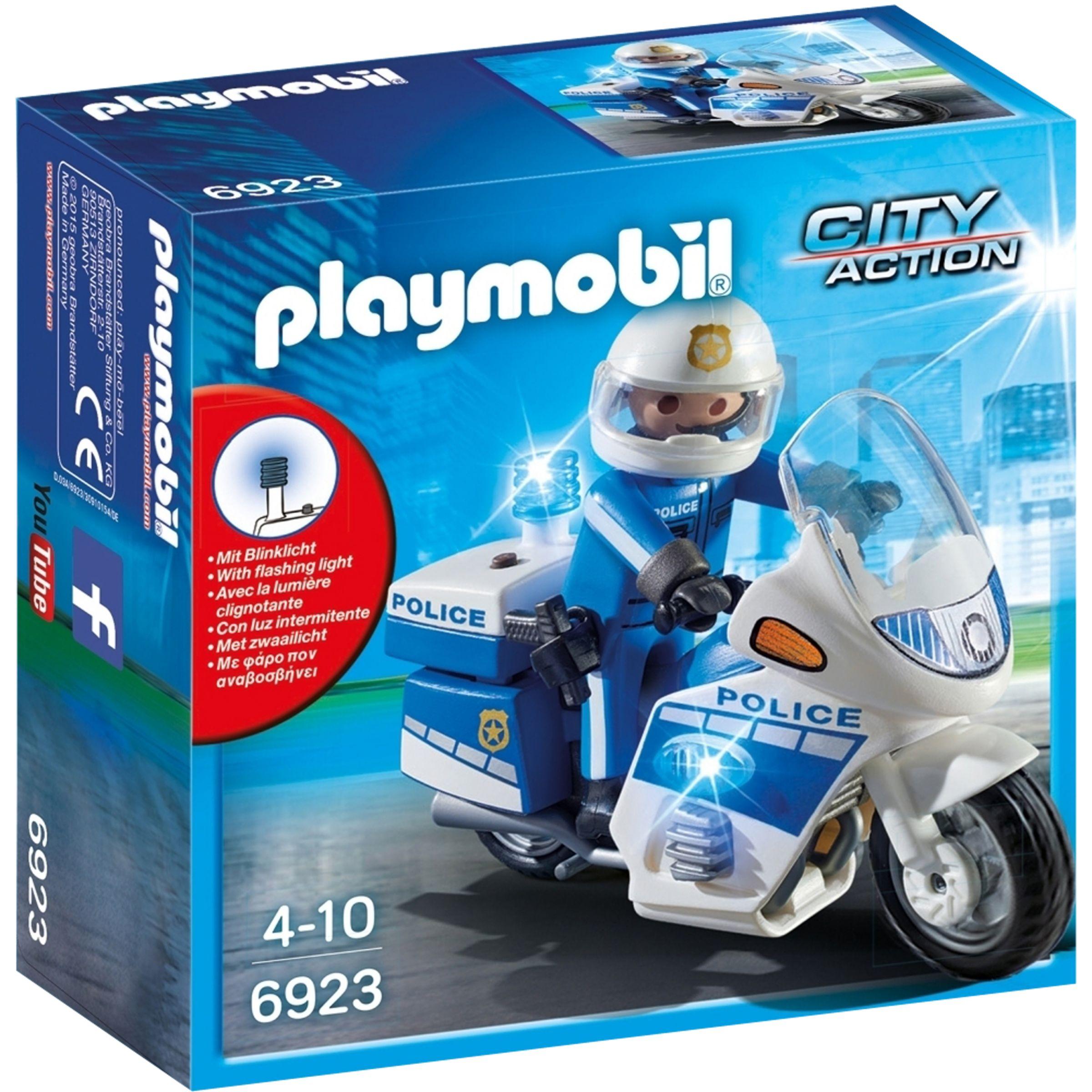 PLAYMOBIL Playmobil Police Motorbike with LED Light