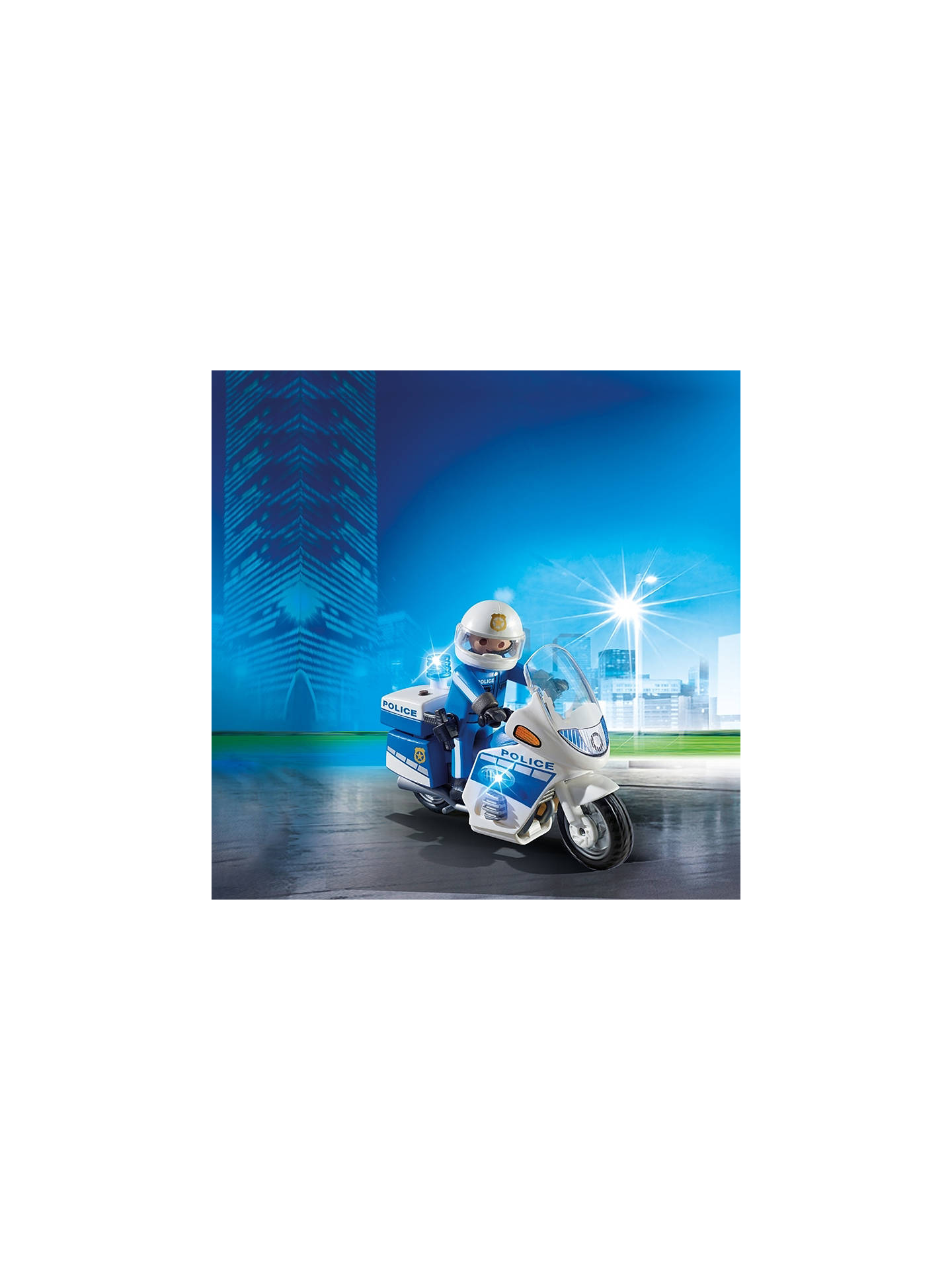 Playmobil Police Motorbike With Led Light At John Lewis Partners Home Hobby Car Lights Leds Buyplaymobil Online