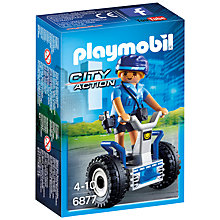 Buy Playmobil City Action Policewoman Balance Racer Online at johnlewis.com