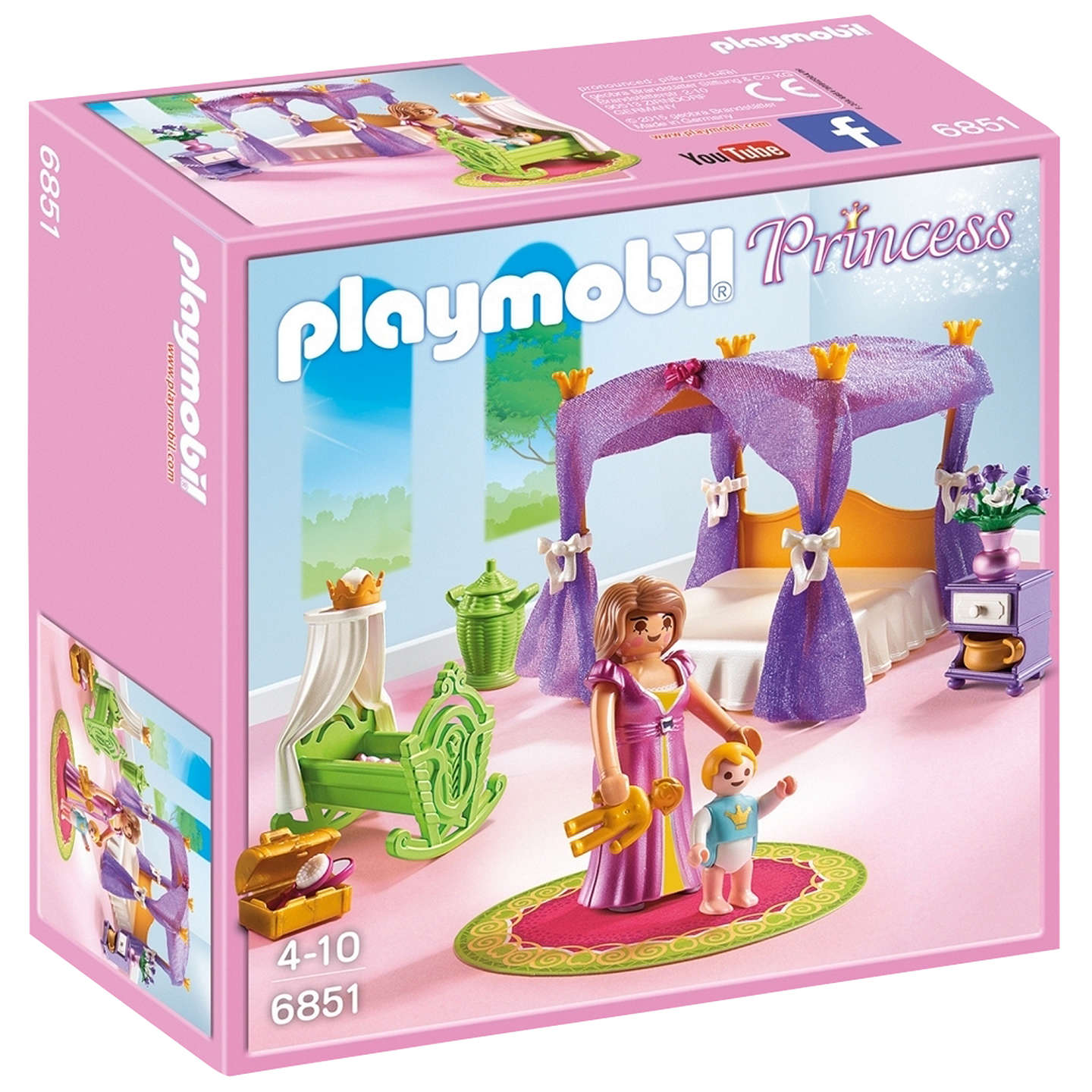 BuyPlaymobil Princess Chamber with Cradle Online at johnlewis.com
