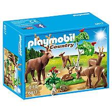 Buy Playmobil Country Stag With Deer Family Online at johnlewis.com