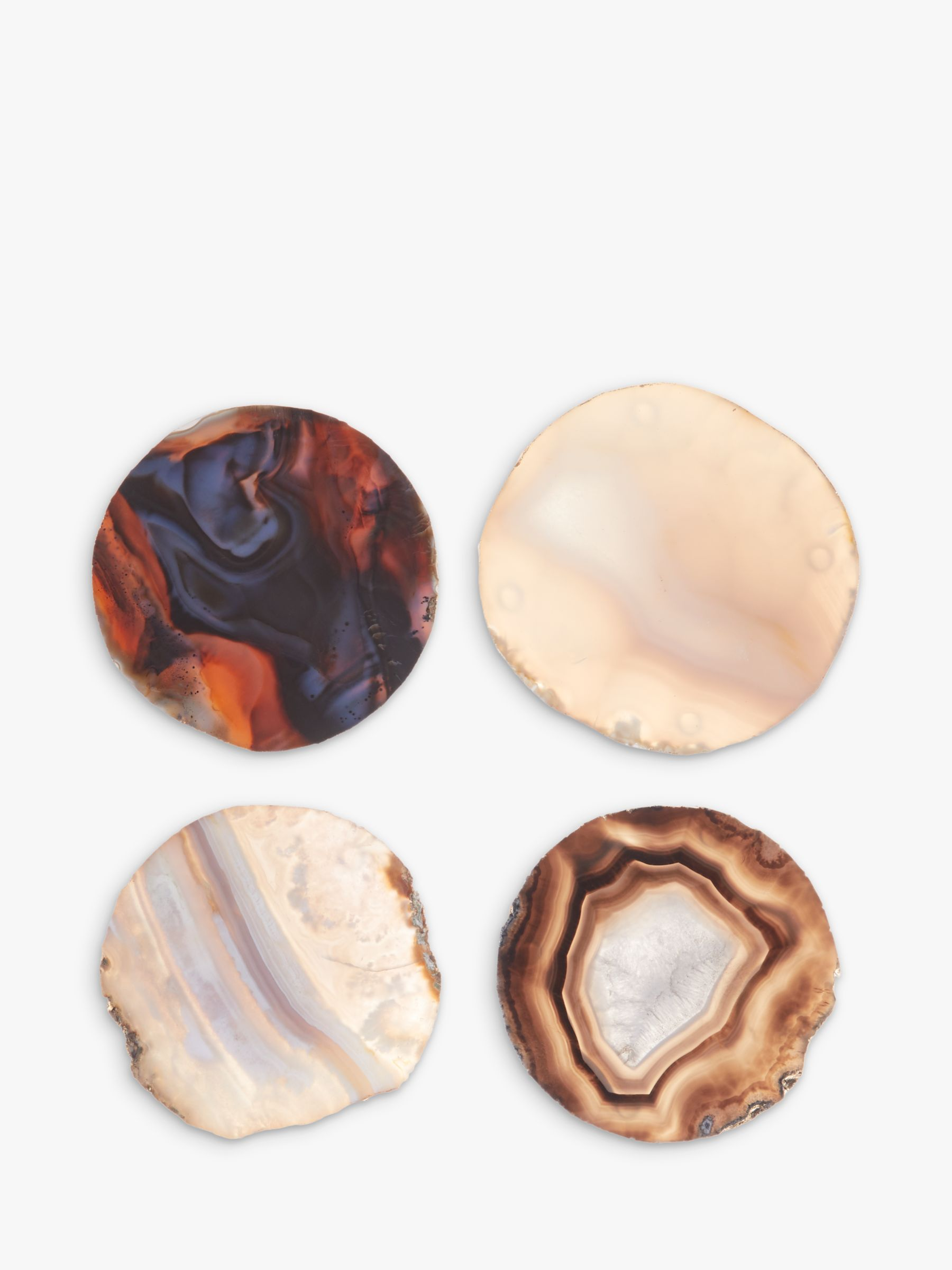 Buy John Lewis & Partners Agate Coasters, Set of 4, Assorted Colours Online at johnlewis.com