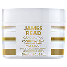 Buy James Read Coconut Melting Face & Body Tanning Balm, 150ml Online at johnlewis.com