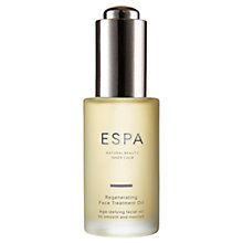 Buy ESPA Regenerating Face Treatment Oil, 30ml Online at johnlewis.com