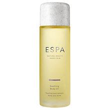 Buy ESPA Soothing Body Oil, 100ml Online at johnlewis.com