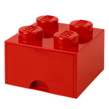 Buy LEGO 4 Stud Storage Drawer, Red Online at johnlewis.com