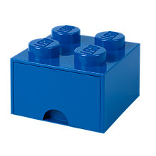 Buy LEGO 4 Stud Storage Drawer, Blue Online at johnlewis.com