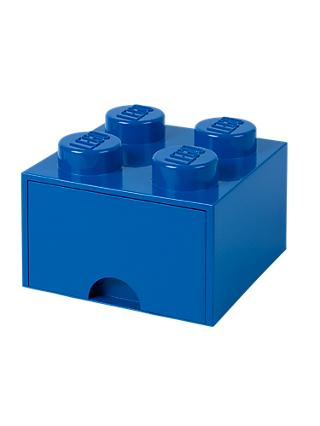 LEGO 4 Stud Storage Drawer, Blue