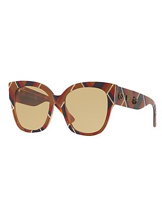 Gucci GG0059S Square Sunglasses, Multi/Beige