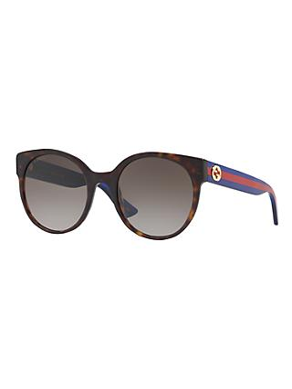Gucci GG0035S Women's Oval Sunglasses