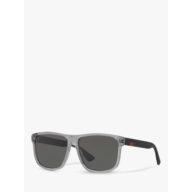 Gucci GG0010S Polarised D-Frame Sunglasses at John Lewis
