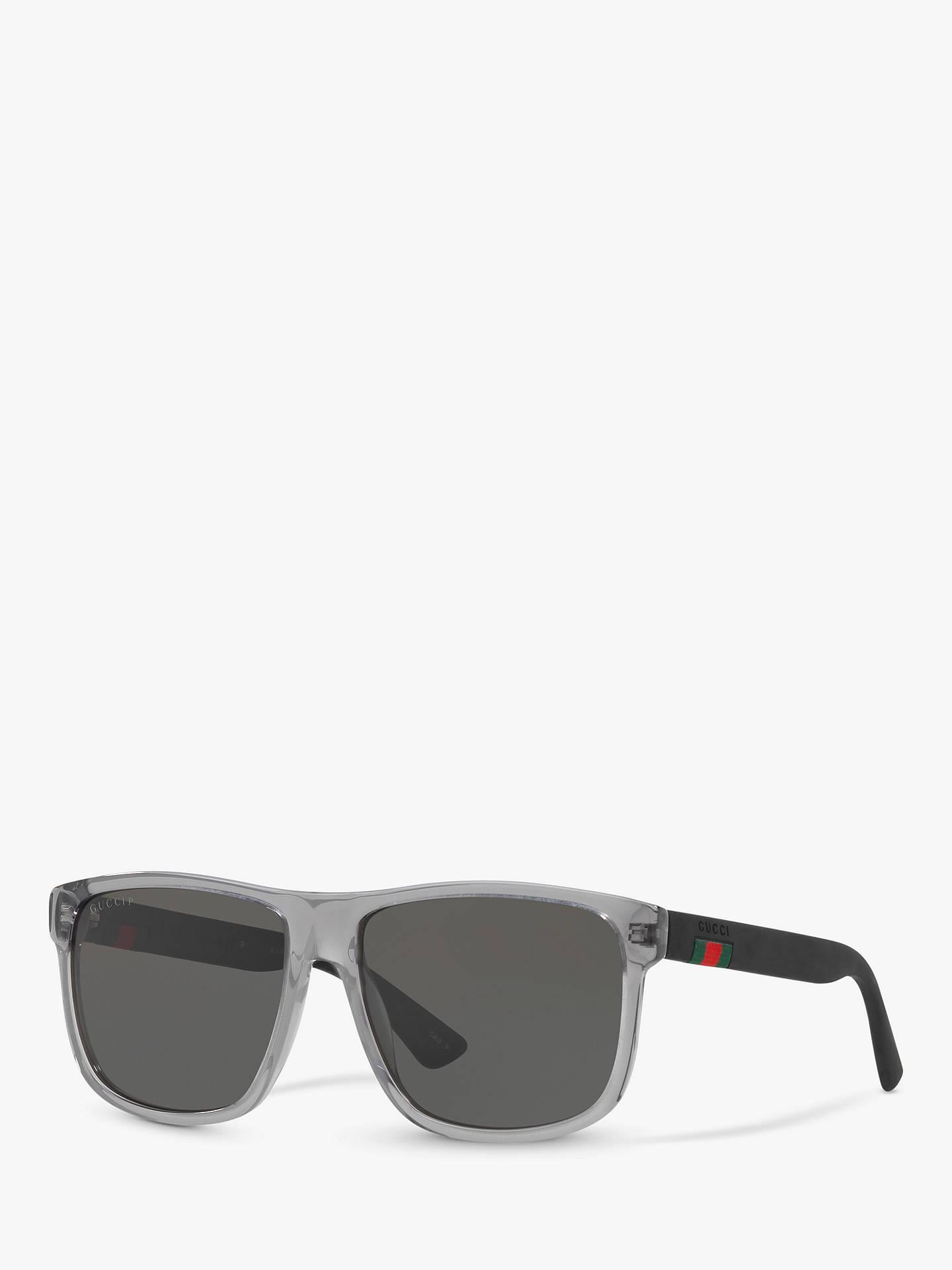 6db68e646f0 Gucci GG0010S Polarised D-Frame Sunglasses at John Lewis   Partners