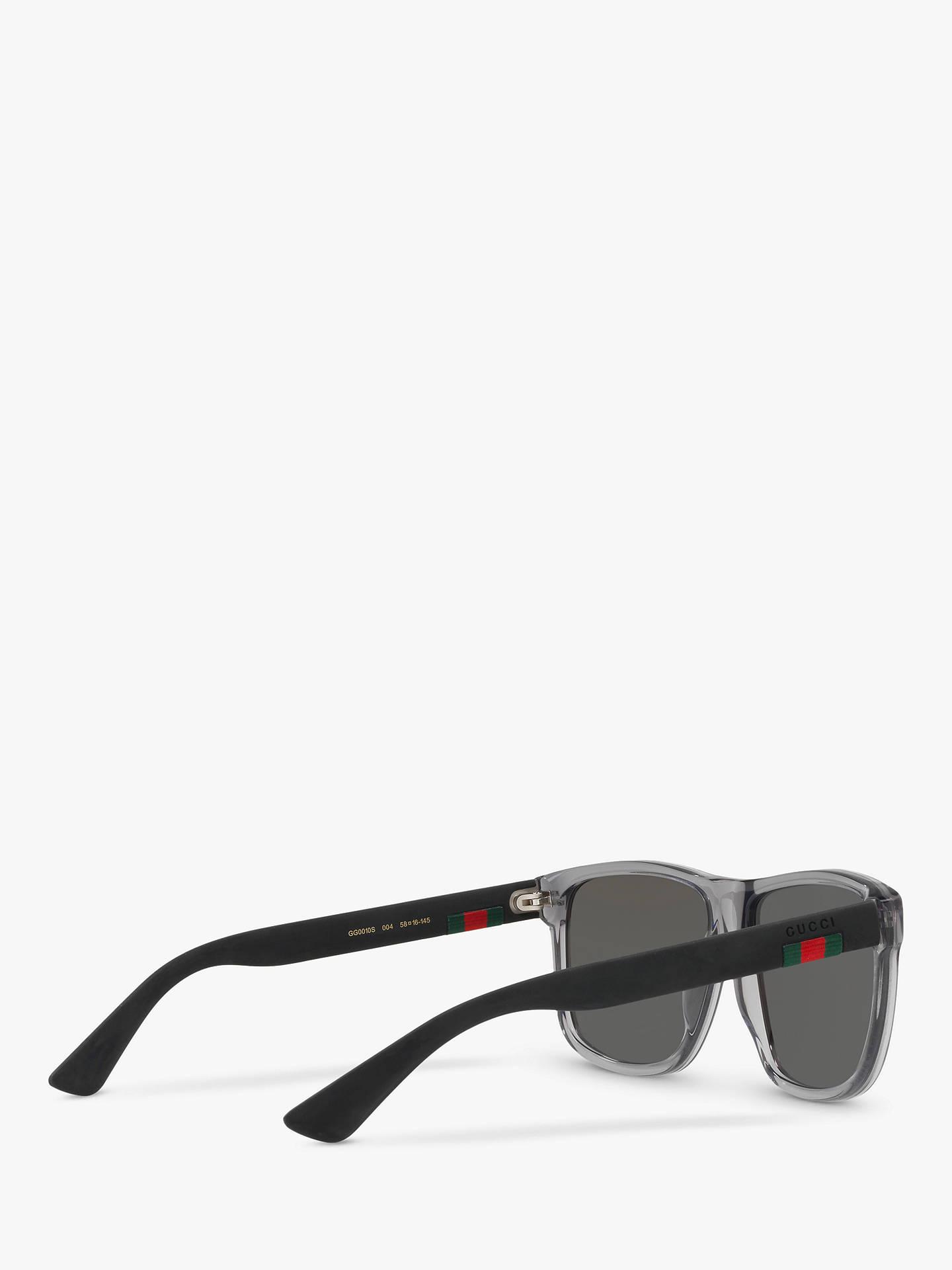 e7135ad742c Gucci GG0010S Polarised D-Frame Sunglasses at John Lewis   Partners