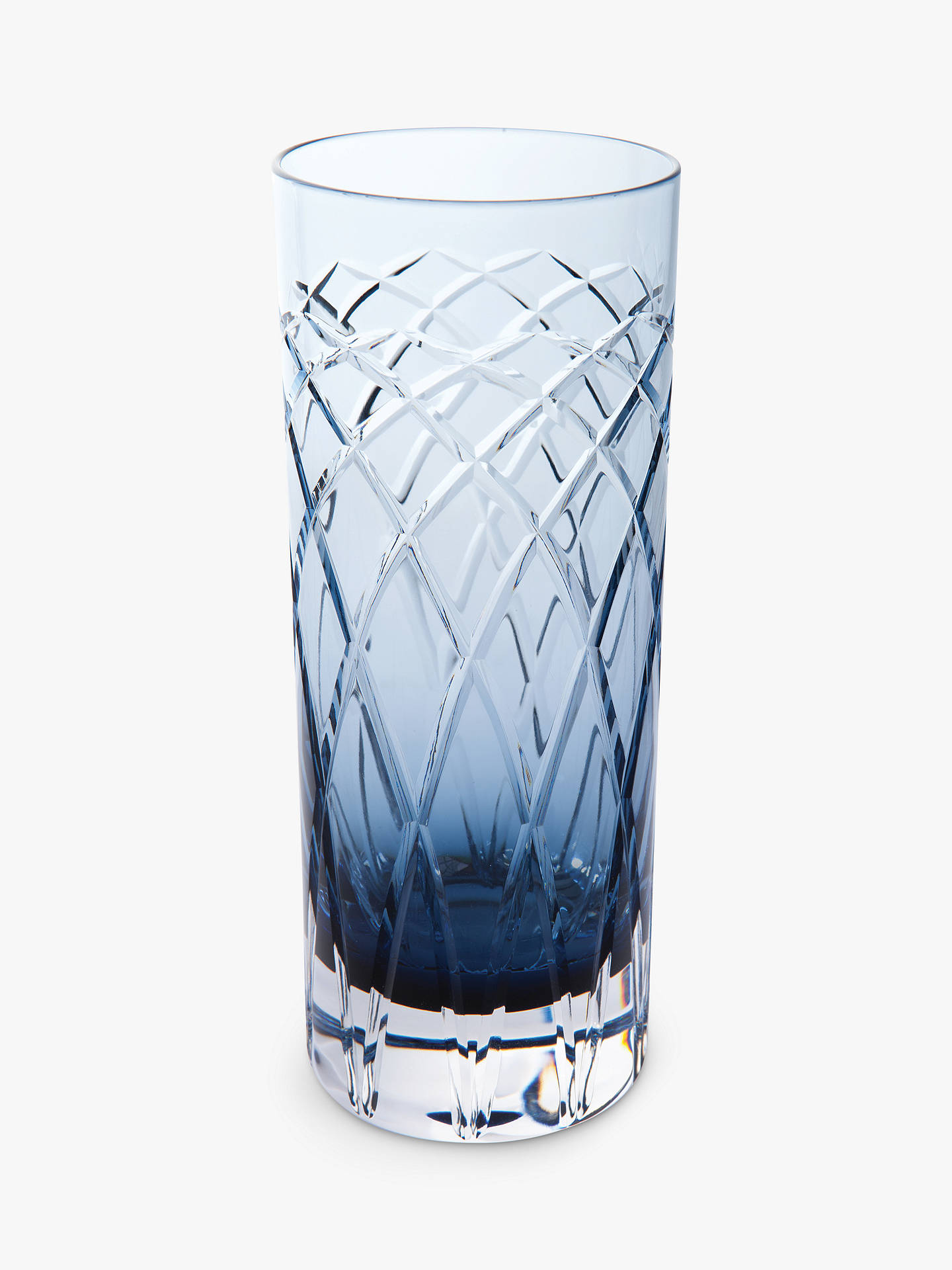 Buy Royal Brierley Harris Crystal Highballs, Set of 2, Ink Blue Online at johnlewis.com