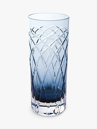 Royal Brierley Harris Crystal Highballs, Set of 2, Ink Blue