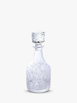 Royal Brierley Harris Cut Lead Crystal Spirit Decanter, Clear