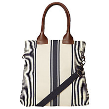 Buy White Stuff Minimal Stripe Tote Bag, Navy/Natural Online at johnlewis.com