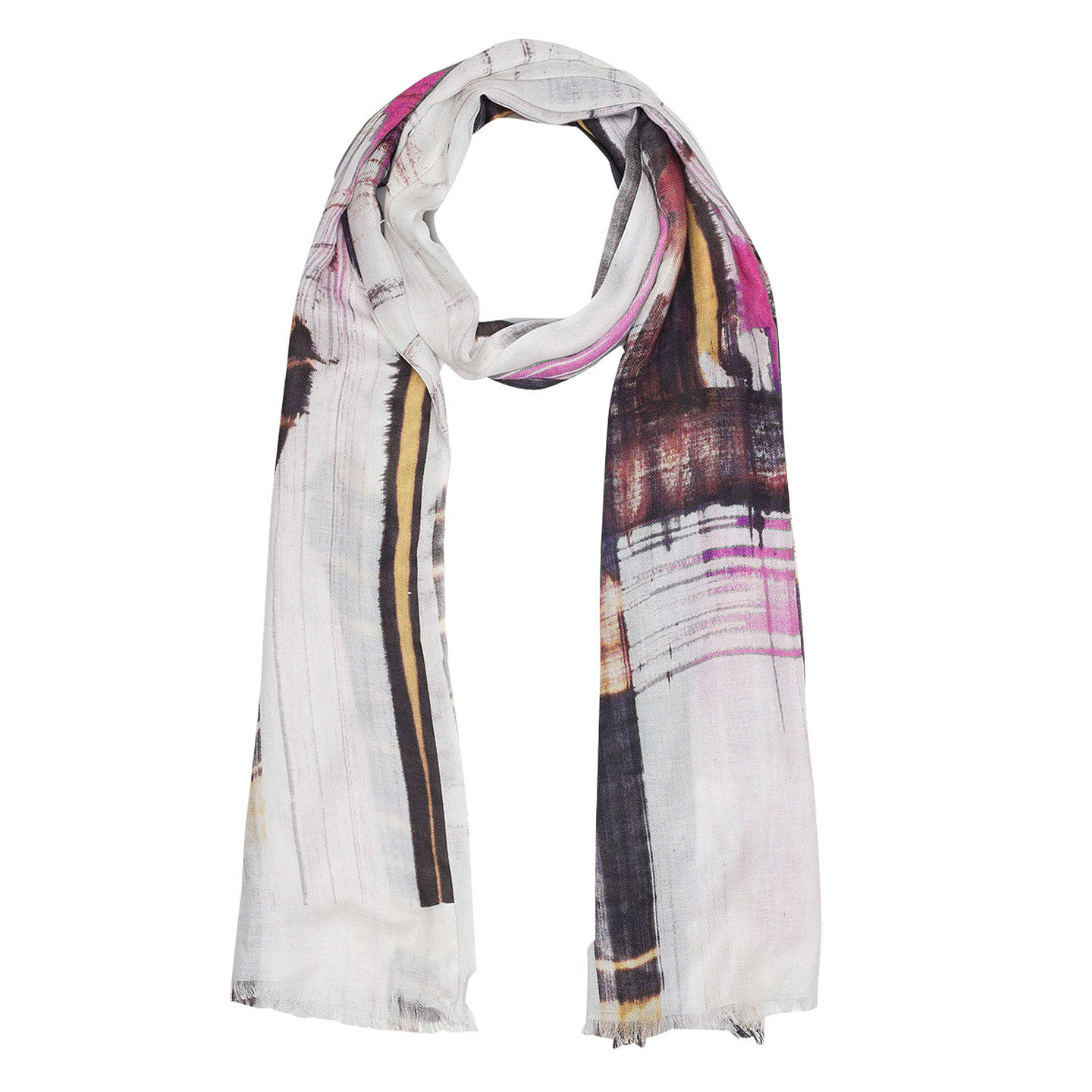 Buyfrench Connection Delphine Scarf, Neon Nectarmulti Online At Johnlewiscom