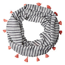 Buy White Stuff Jennifer Stripe Tassel Snood, Multi Online at johnlewis.com