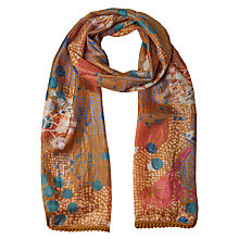 Buy White Stuff Brush Mark Bird Silk Scarf, Multi Online at johnlewis.com