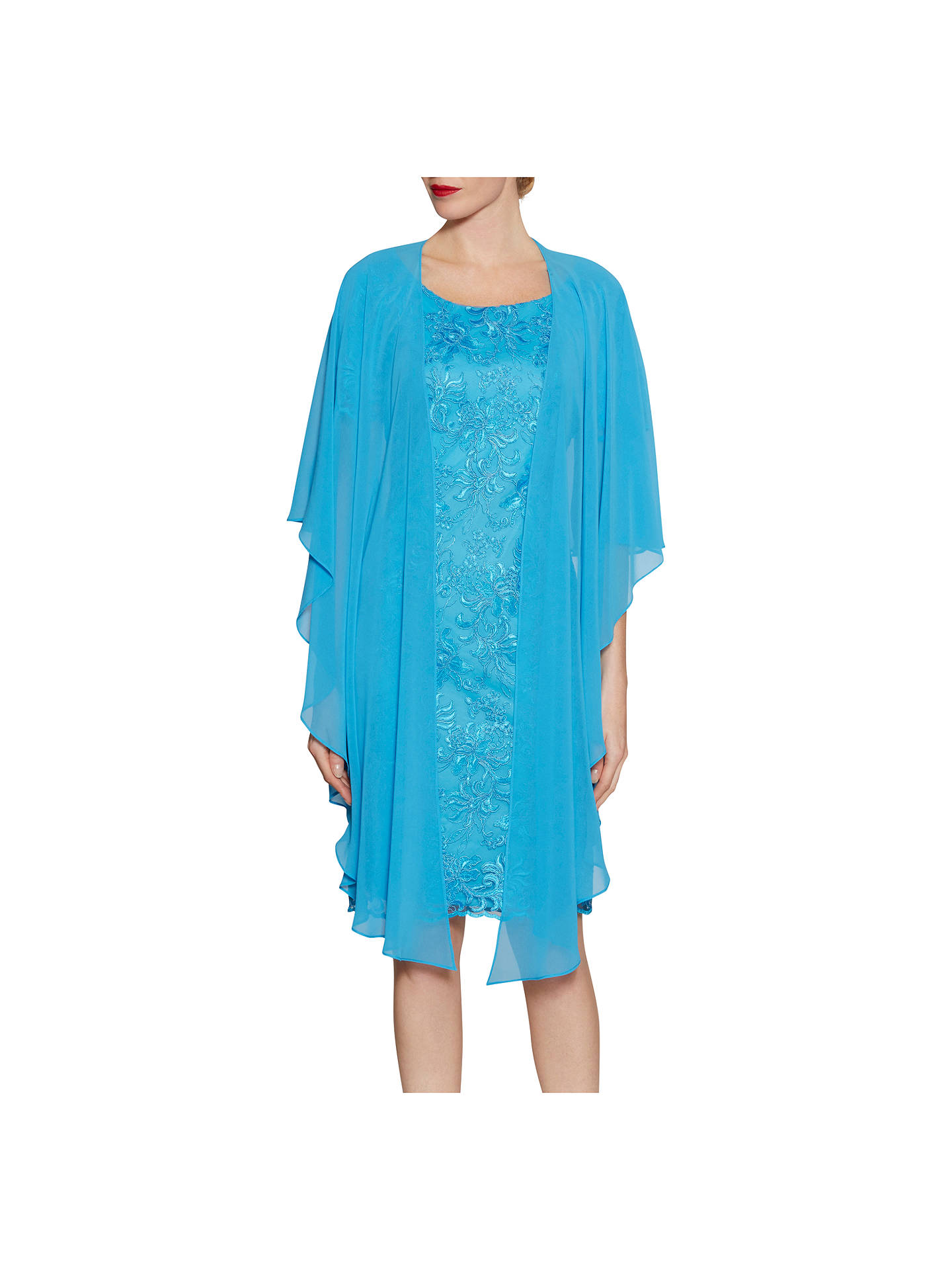 BuyGina Bacconi Chiffon Shawl, Summer Blue Online at johnlewis.com