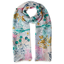 Buy White Stuff Floral Silk Scarf, Grey Online at johnlewis.com