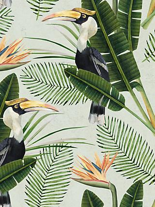 MindtheGap Birds of Paradise Paste the Wall Wallpaper Set, WP20092