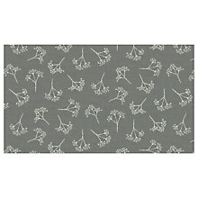 Buy Concord Heartwood Cow Parsley Print Fabric, Grey Online at johnlewis.com
