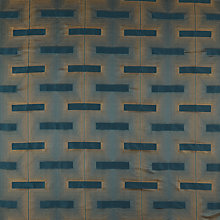 Buy John Lewis Lawson Curtain, Teal / Gold Online at johnlewis.com