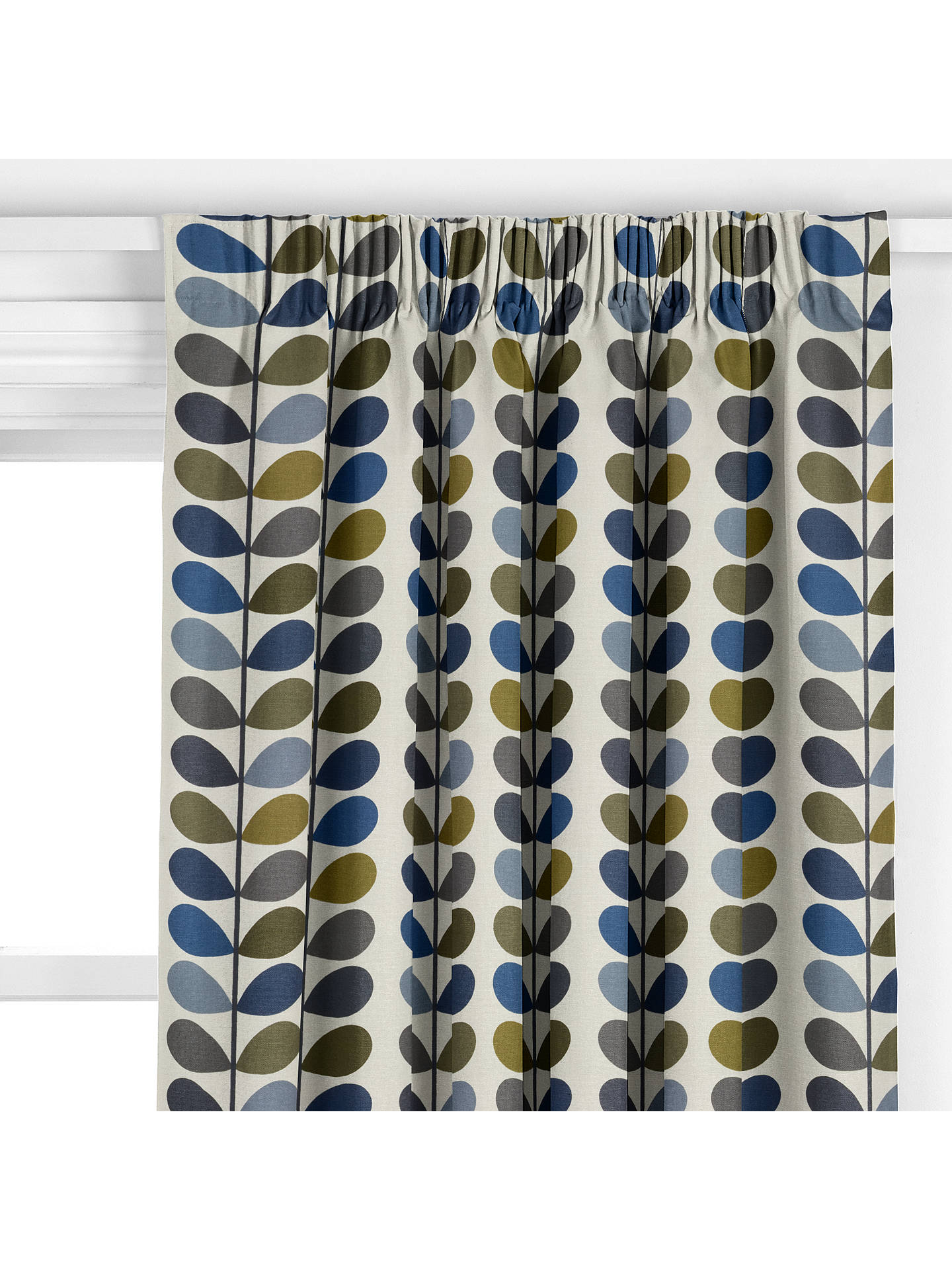 BuyOrla Kiely Multi Stem Curtain Moss Online At Johnlewis