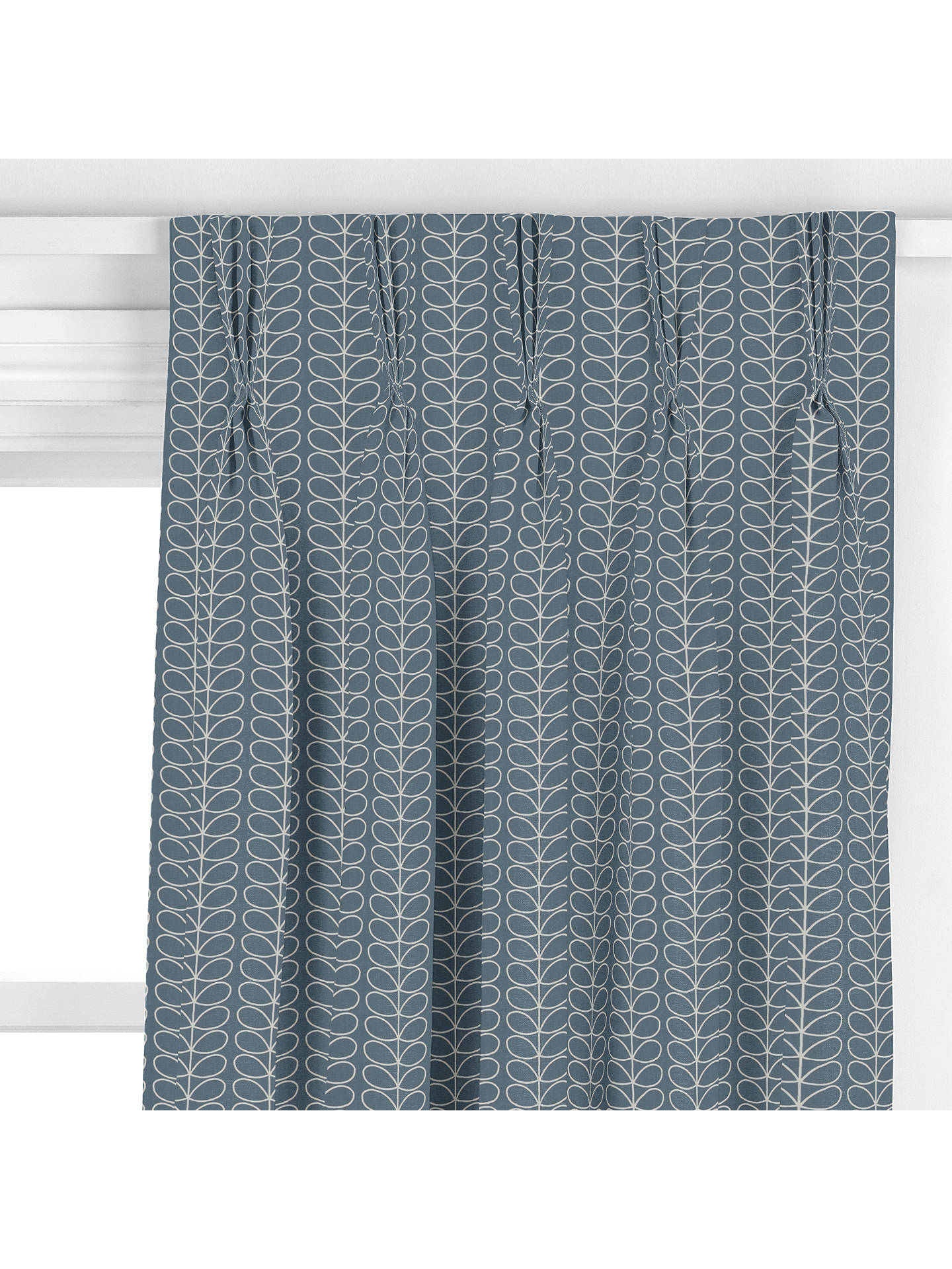 Orla Kiely Linear Stem Made To Measure Curtains Grey At