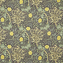 Buy Morris & Co Seaweed Curtain, Yellow Online at johnlewis.com