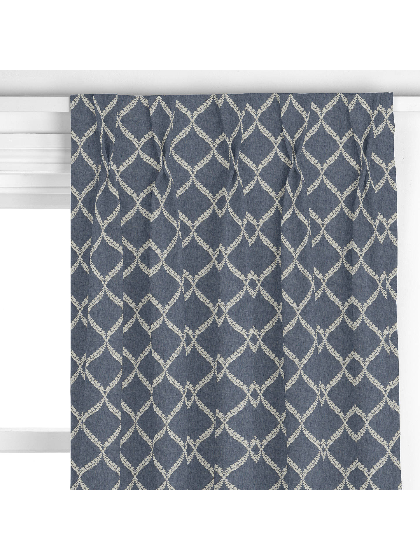 BuySanderson Home Dalby Curtain, Indigo Online at johnlewis.com