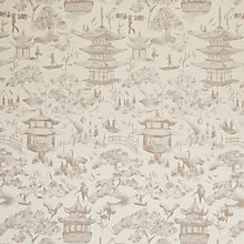 Buy John Lewis Oriental Scene Curtain, Natural Online at johnlewis.com
