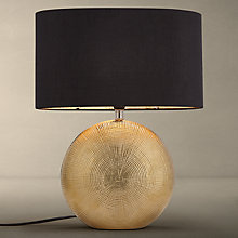 Buy John Lewis Benjamin Ceramic Table Lamp, Small, Brass Online at johnlewis.com