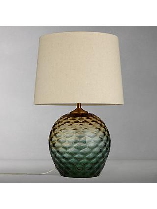 John Lewis & Partners Abigail Dimple Ombre Table Lamp, Green